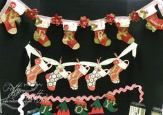 cute christmas garland made with the holiday stocking die from STAMPIN' UP!