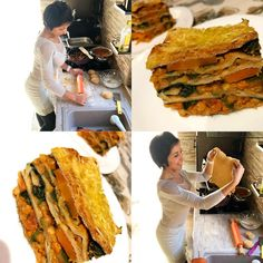 Vöröslencsés-spenóts lasagne
