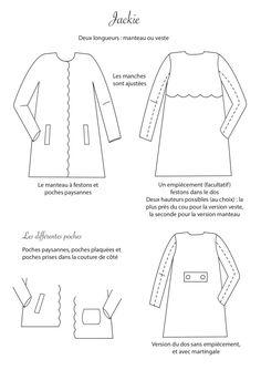 Jackie Kennedy, Techniques Couture, Vest Coat, Diy Fashion, Sewing Patterns, Crochet, Blog, Designers, Inspiration