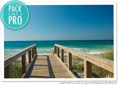 "Learn to ""Pack Like a Pro"" for your next beach vacation, courtesy of the What I Wore blog. You can also enter to win a trip to Panama City Beach, Florida!"