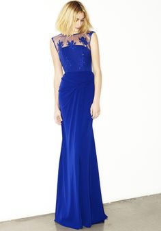 BELLA - LACE APPLIQUED GOWN