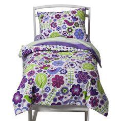 Bacati Botanical Purple 4pc Toddler Set