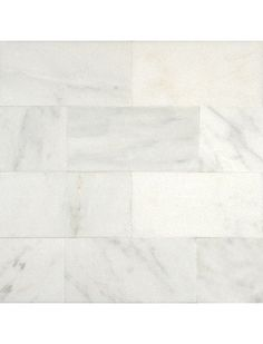 3 in. x 6 in. Greecian White Marble Brick Pattern Polished Mosaic Tile  #Greecian_White_Marble, #3x6_Subway_Tile, #Brick_Mosaic_Tile, #Marble_Mosaic