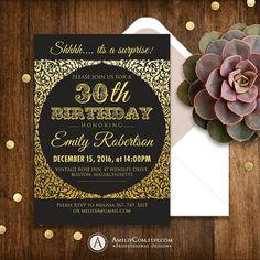 Adult birthday invitation Birthday invitation by AmeliyInvite