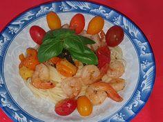 Lulu - Povesti din Bucatarie: Paste cu creveti Paste, Linguine, Shrimp, Meat, Food, Eten, Meals, Diet