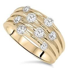 1.00CT Yellow Gold Real Diamond 14K Right Hand Ring  http://electmejewellery.com/jewelry/rings/100ct-yellow-gold-real-diamond-14k-right-hand-ring-com/