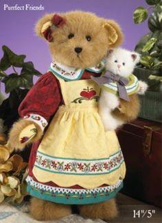 Boyds Bears Precious Bear and lil kitten