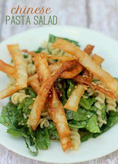 Chinese Pasta Salad recipe. So simple and so delicious! { lilluna.com }