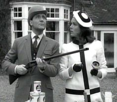 """The Avengers"" TV show. John Steed and Emma Peel"