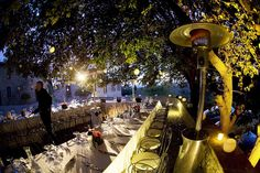 tuscan vineyard wedding nighttime