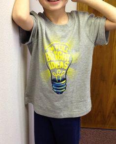 Im full of bright ideas: Love this!  #Tee #Bright_Ideas #Kids