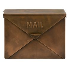 Copper Mail Box....looks like an envelope.