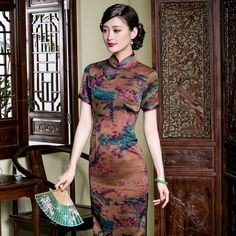 chinese clothing ankle length floral dresses https://www.ichinesedress.com/
