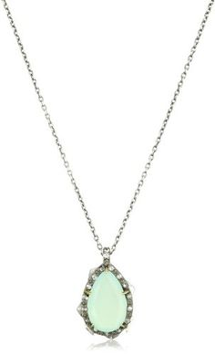 Elizabeth and James Thorns Sterling Silver Aqua Chalcedony P $275