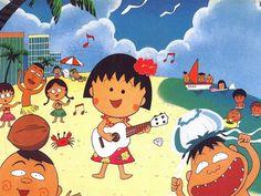 Vacaciones en la playa, estamos de fiesta!! Chibi Maruko Chan Dibujitos animados para niños de un comic manga japonés ---- Beach Vacations, this is a party in holidays! Chibi Maruko Chan Cartoon for Children, Japanese manga comic