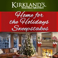 I could win a $10,000 Kirkland's Shopping Spree, and you can too! Spark your holiday spirit and enter for YOUR chance to win!