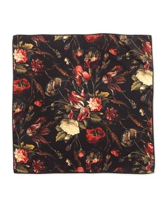 Givenchy Floral print Silk Twill Square Scarf in Multicolor (RED) - Lyst 189459a5db1