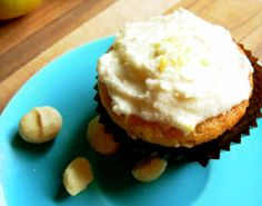 meyer lemon macadamia nut cupcake