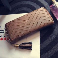 JOYPESSIE New Fashion leather Women Wallet tassel luxury brand casual PU Wallet Long Ladies Clutch Coin Purse