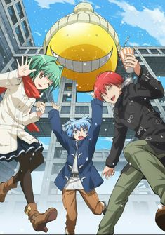 Assassination Classroom : Kaede Kayano Shiota Nagisa Akabane Karma 「冬-Fuyu」 5 Anime, Anime Shows, Assassination Classroom Karma, Anime Harem, Koro Sensei, Nagisa And Karma, Nagisa Shiota, Animes Online, Another Anime