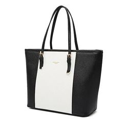 Big Bag 2019 fashion women pu leather handbag brief shoulder bag black white large capacity luxury tote shopper bag designer - Black Large Handbags, Black Handbags, Tote Handbags, Luxury Handbags, Cheap Handbags, Cheap Purses, Cheap Bags, Luxury Purses, Fossil Handbags