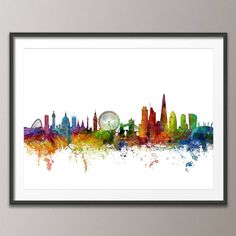 White background art print poster (frame not included)