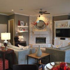 Corner fireplace layouts on Pinterest | Corner Fireplaces ...
