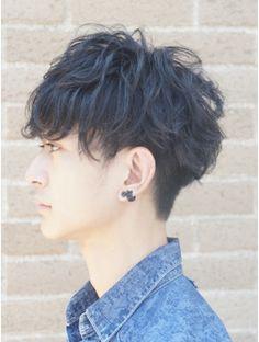 リップス 原宿(LIPPS) 黒髪ツーブロック 無造作マットイメチェン刈り上げネープレス