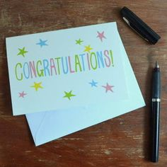 'Congratulations' Card