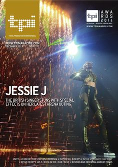 Jessie J - Dec 13  The british pop star covers all bases on her alive tour, which includes showers of pyrotechnics, led video screens and a complex audio mix. Sarah Rushton-Read reports for tpi.
