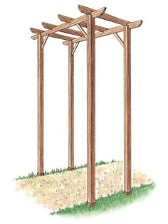 to Build a Pergola Learn how to build a simple freestanding wooden pergola kit with these gardening tips from .Learn how to build a simple freestanding wooden pergola kit with these gardening tips from . Diy Pergola, Wooden Pergola Kits, Wedding Pergola, Building A Pergola, Outdoor Pergola, Pergola Lighting, Pergola Shade, Pergola Plans, Pergola Ideas