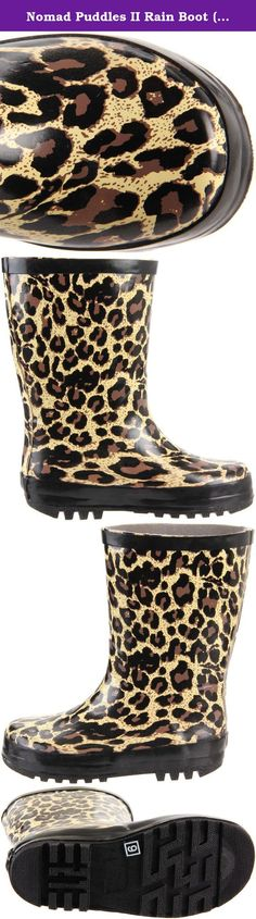 Nomad Puddles II Rain Boot (Toddler/Little Kid/Big Kid),Tan Leopard,9 M US Toddler. Nomad Girls Ms. Puddles II Water Resistant Rain Boots. Durable Rubber Construction with Non Skid Rubber Sole and Colorful Pattern Throughout. Imported.