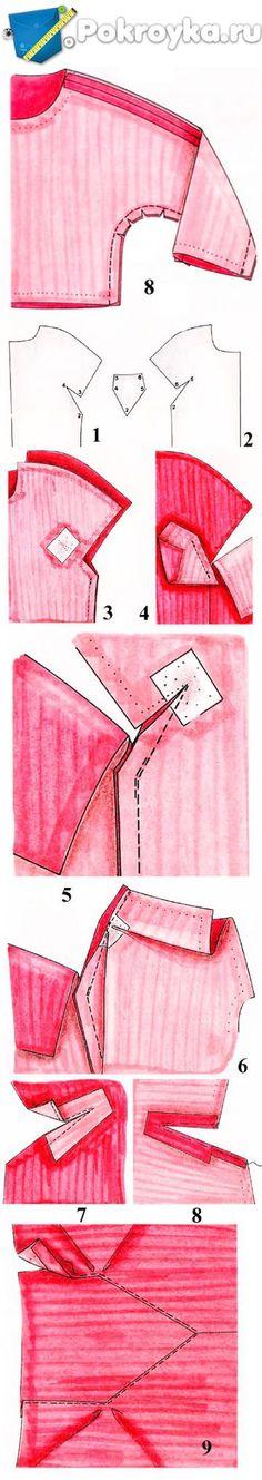 Как втачать различные формы рукавов в пройму | pokroyka.ru-уроки кроя и шитья