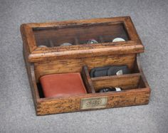 Personalized Men's Valet and Watch box by OurWeddingInvites