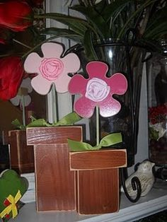 2x4 flower pot. I am thinking, I might just have to buy a saw so I can start making all these cute wood creations I am finding on pinterest.