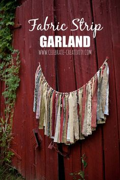 Put scrap fabrics to good use with this easy-to-make Fabric Garland.