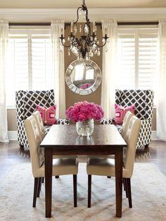 Cupcakes & Couture: Design Inspiration: Feminine Dining Rooms