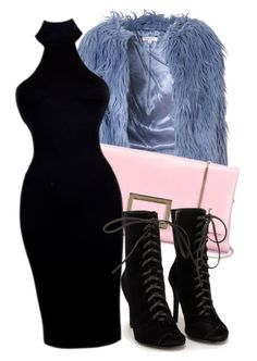"""blueishpinkish powder"" by nerdygurlrock ❤ liked on Polyvore featuring Glamorous, Roger Vivier and Nly Shoes"