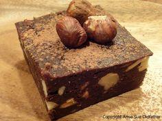 Hazelnut-&-Coconut-Chai-Brownies  dairy free, egg free, gluten free, raw, vegan