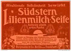 Original-Werbung/Inserat/ Anzeige 1912 - SÜDSTERN LILIENMILCH-SEIFE - ca. 180 x 130 mm