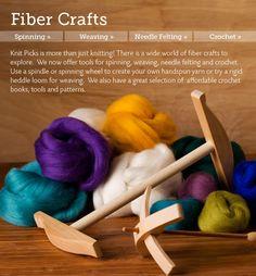 Fiber Crafts: Spinning, Weaving, & Needle Felting from knitpicks.com where it's not just knitting.