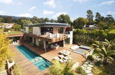 platinum level leed house roof gardens pool 1 site thumb 970xauto 30303 Platinum Level LEED Home with Pool House