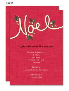 Noel Holiday Invitation