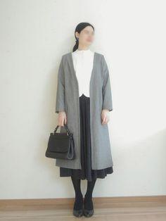 【Pattern · How to make】 Easy Long Coat Dress Sewing Patterns, Clothing Patterns, Sewing Ideas, Blog Couture, Korean Dress, Love Sewing, Dressmaking, Korean Fashion, Normcore