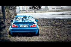 Would you look at the ass on this m3?! & that blue is beautiful<3 Should be on coilovers though. I don't do bags.