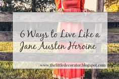Actual Austen books and several spinoffs, sequels,and movies have captured my fancy. It makes me want my modern life to reflect the...