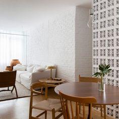 Traditional ceramic blocks feature in Alan Chu's São Paulo apartment renovation