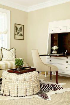 ML Interior Design - love this ottoman