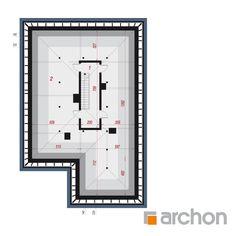 Projekt domu Dom w renklodach 5 - ARCHON+ Bar Chart, Floor Plans, Mlb, Modern, House, Trendy Tree, Home, Bar Graphs, Homes