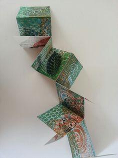 Vouwboekje van kartonprints